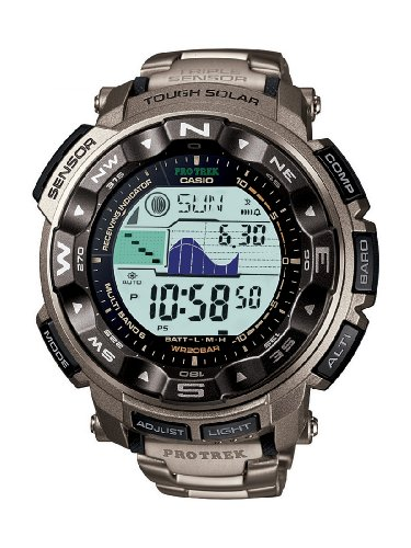 Casio Pro Trek Digital Taucheruhr mit Titanarmband
